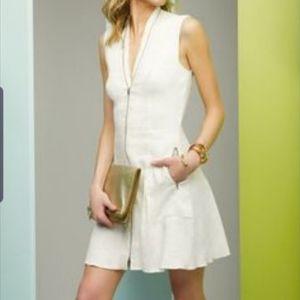 L'agence for intermix white zip up dress sz 8